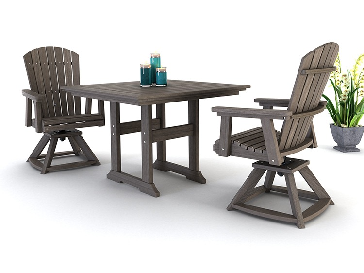Bristol Dining Table | Hyannis Swivel Chairs