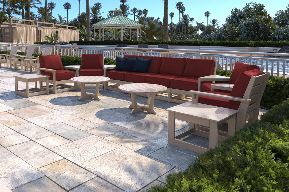Hudson Modular Deep Seating Set with Accent Tables
