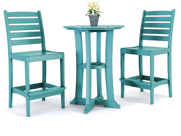 Laguna Bar Table with Maywood Bar Side Chairs