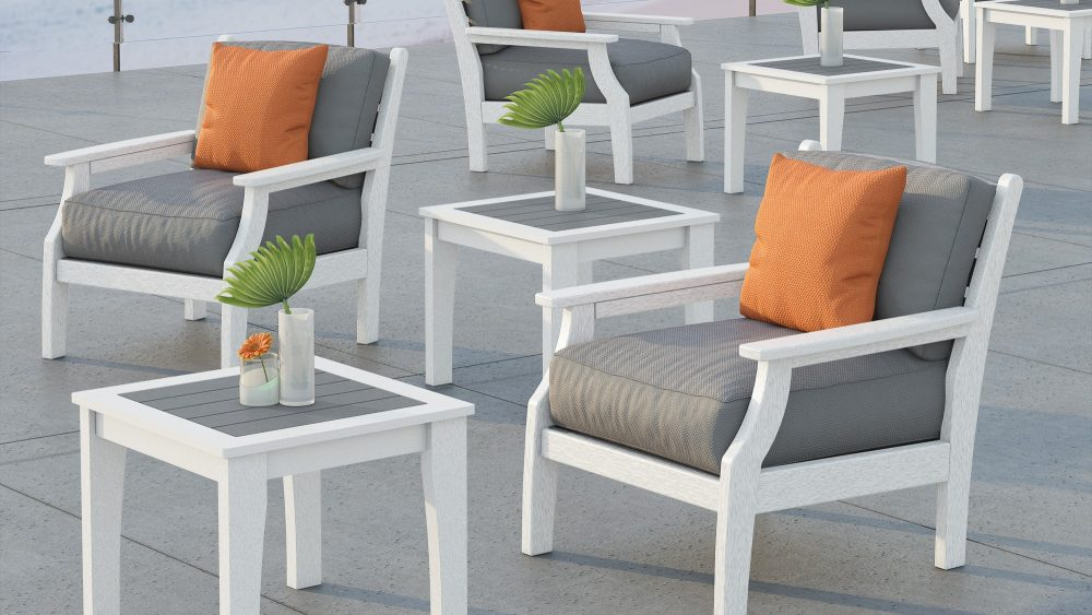 Occasional Tables with Maywood Deep Seating Loungers