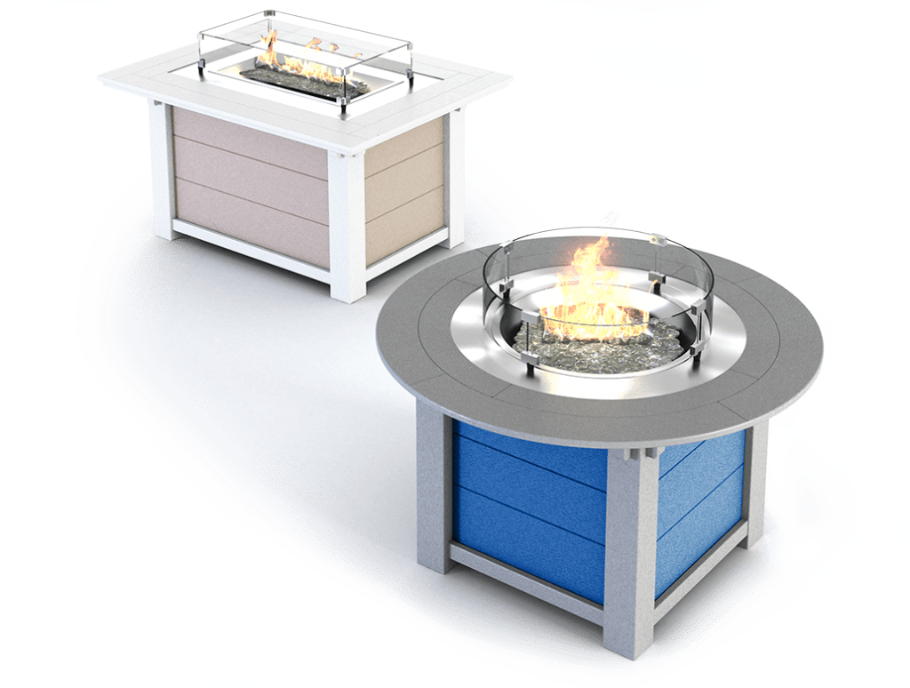 Round and Rectangular Fire Tables