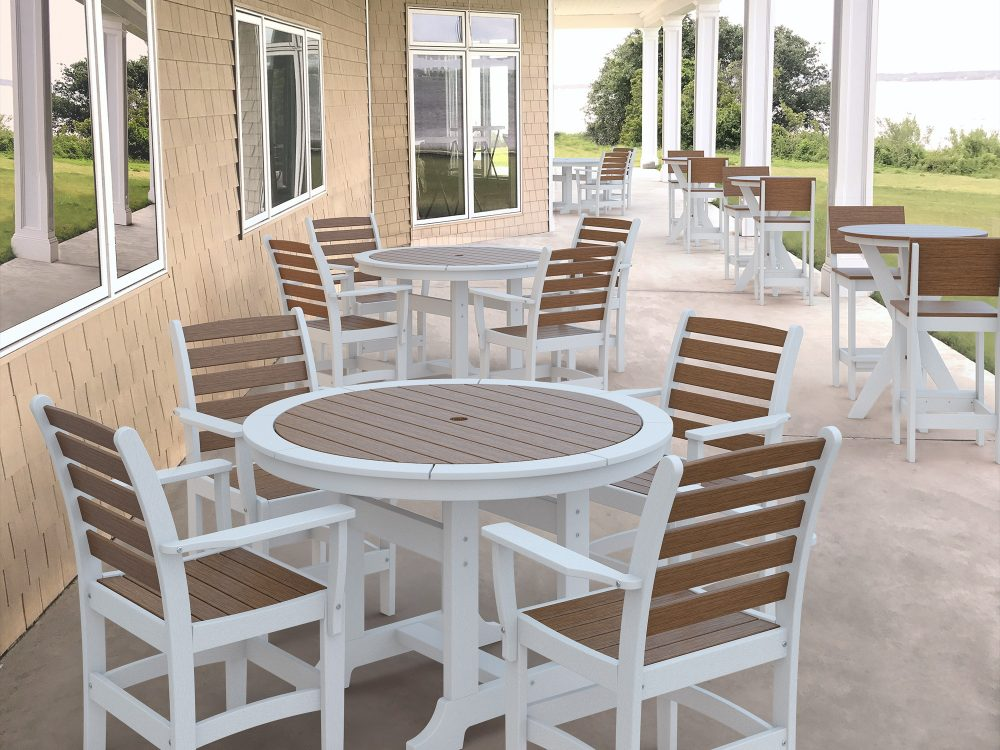 Laguna Dining Tables with Maywood Dining Chairs