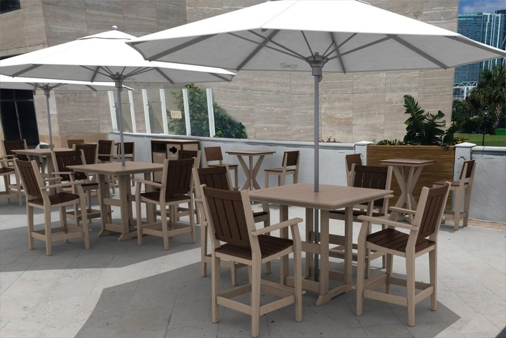 Milano Dining Sets with Hudson Dining Tables and Side Chairs