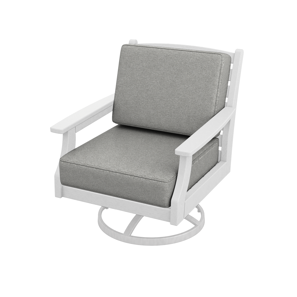 Maywood Lounge Chair Swivel Rocker with Cushions