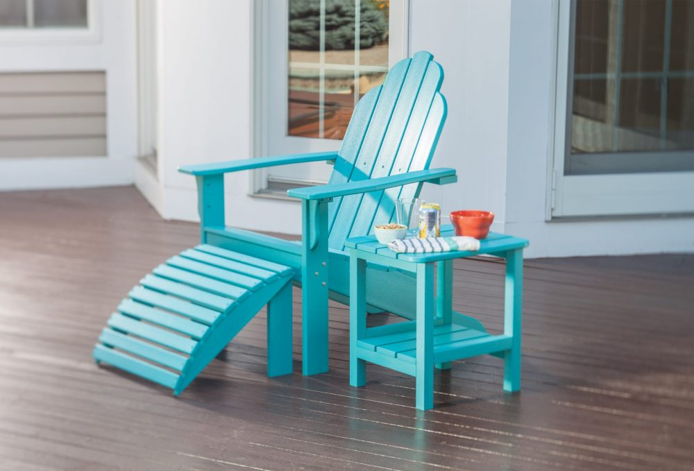 Yarmouth Adirondack Chair with End Table, Footstool