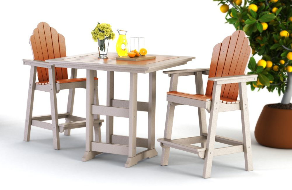 Bristol Bar Table with Yarmouth Counter Dining Chairs