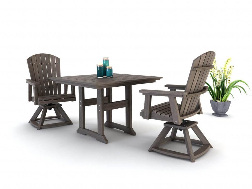 Bristol Dining Table, Hyannis Rocker chairs