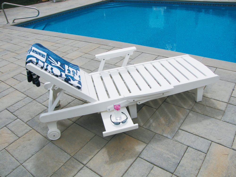 Delray Chaise Lounge with Arm Kit and Table Option