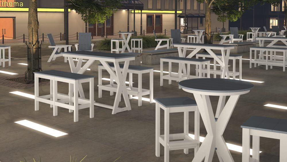 Hudson Cocktail and Bar Tables, Bar Benches, and Bar Stools