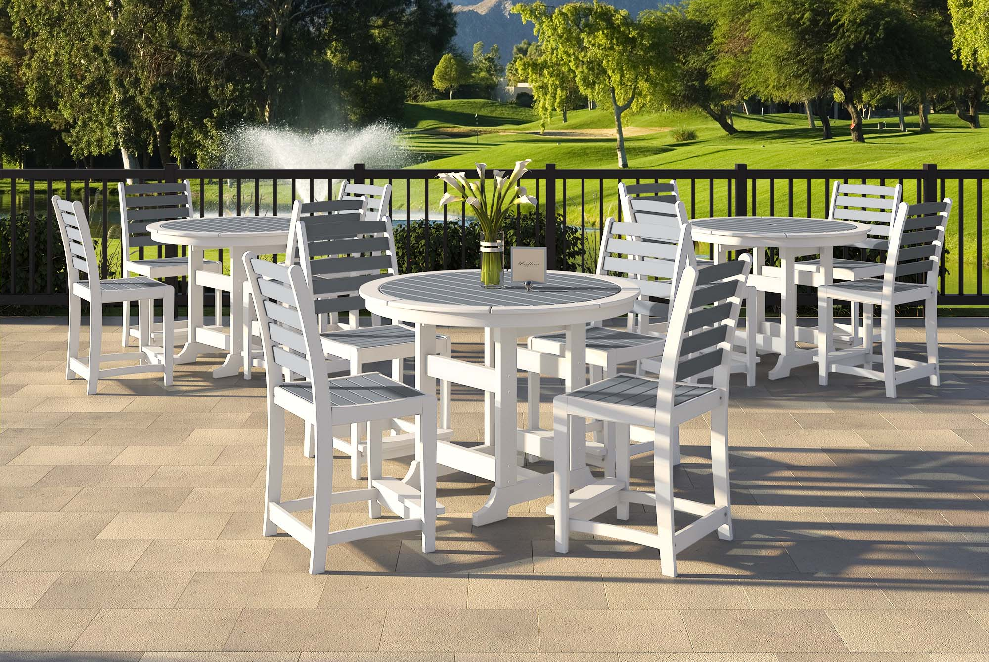 Laguna Tables with Milano Dining Chairs