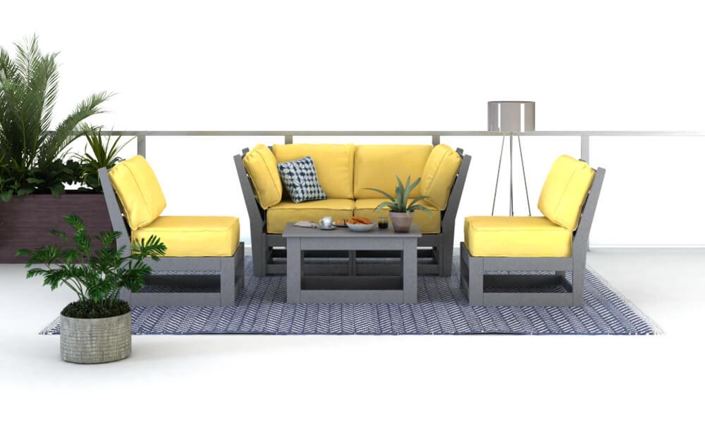 Hudson Modular Deep Seating with Coffee Table