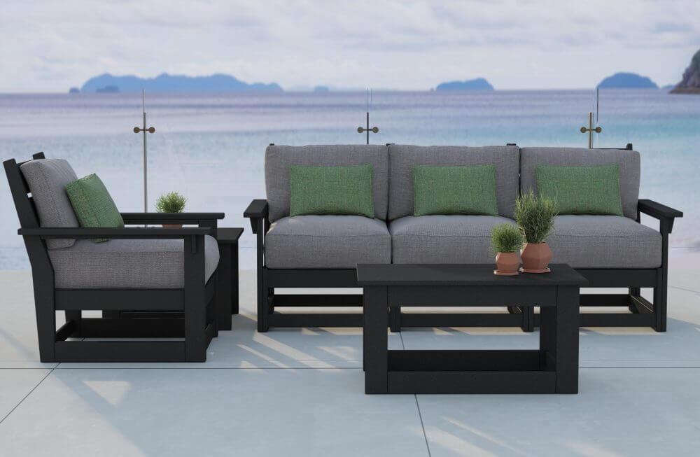Hudson Modular Deep Seating Sofa, End Table, Lounge Chair, Coffee Table