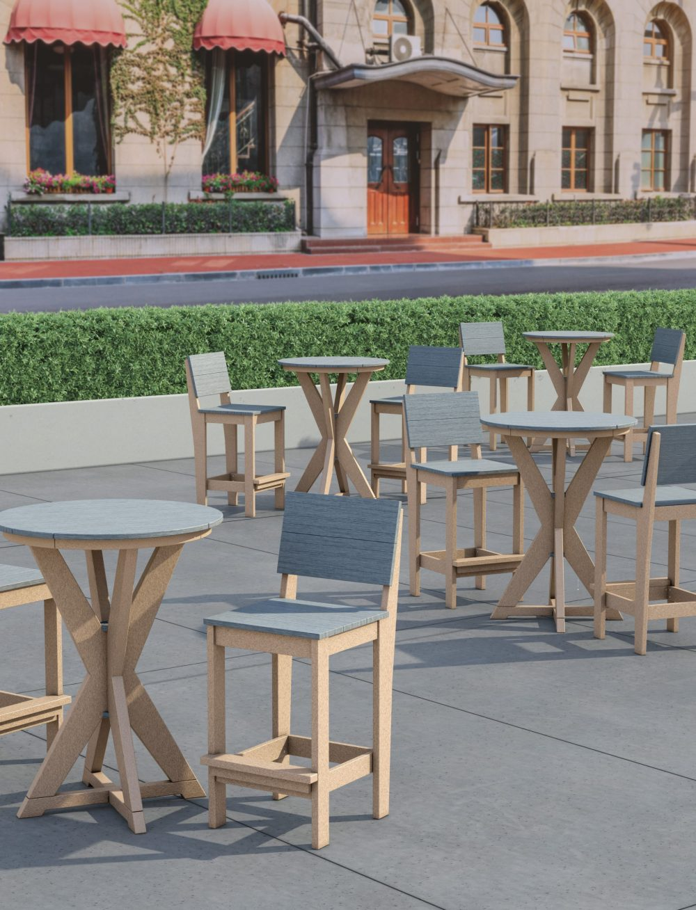 Hudson Bar Tables with Bar Side Chairs