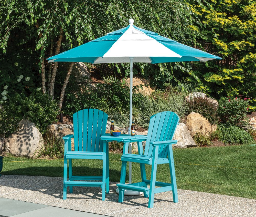 Hyannis Bar Chair with Tete-a-tete and Umbrella