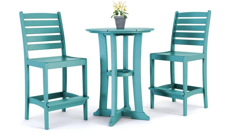 Laguna Bar Table, Maywood Bar Side Chairs