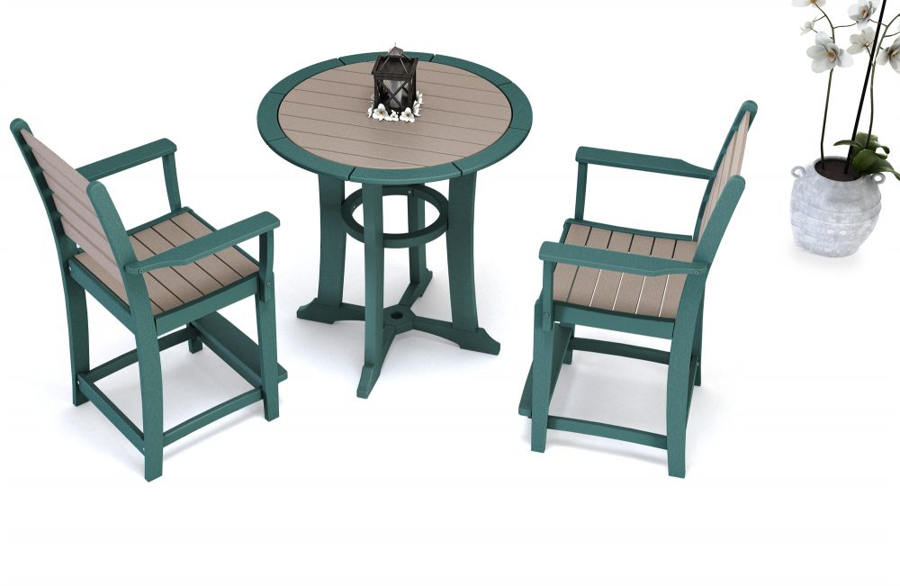 Laguna Counter Table with Maywood counter chairs