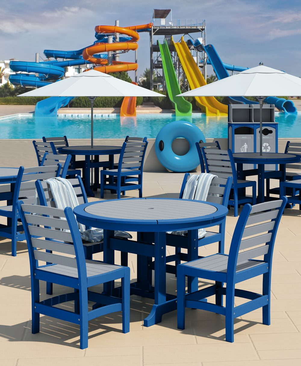 Laguna Dining Table, Maywood Side Chairs | water amusement park