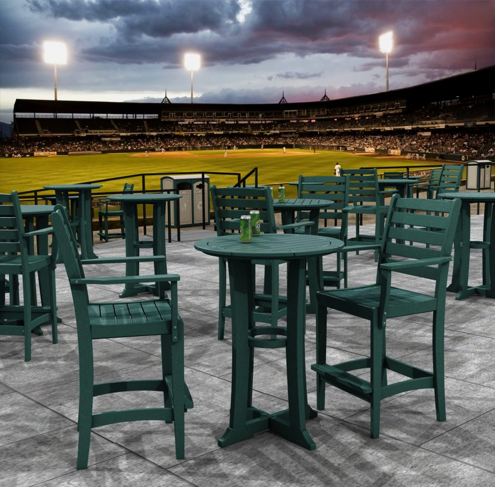 Laguna Counter Bar Table, Maywood Counter Bar Dining Chairs