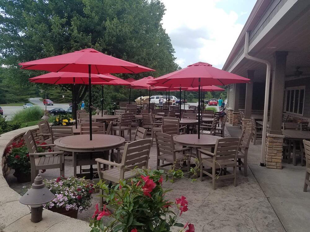 Laguna Dining Table, Maywood Dining Chairs