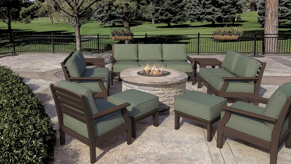 Maywood Deep Seating Sofa, Loveseats, Lounge Chairs with Ottomans