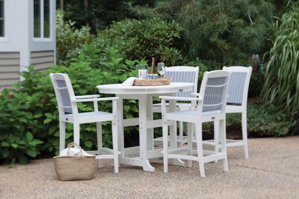 Maywood Sling Bar Chairs with Laguna Bar Table