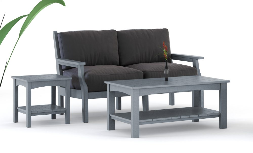 Maywood Loveseat | Woodlake Coffee Table Side Table