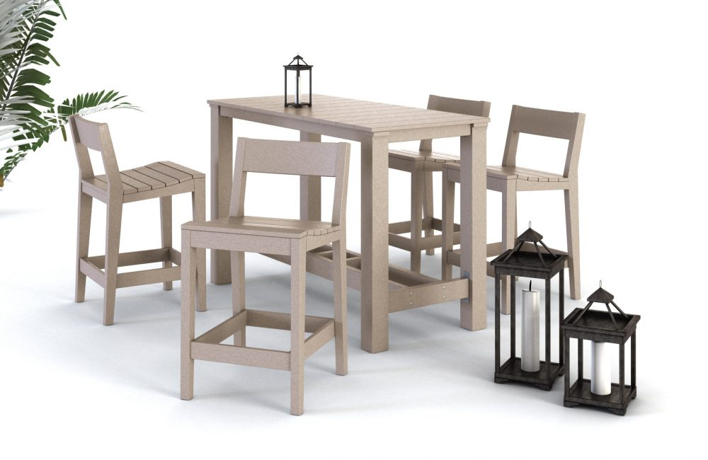 Milano Dining Bar Table | Bar Side Chairs Low Back