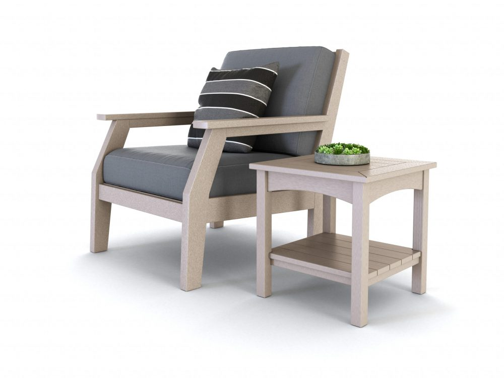 Milano Lounge Chair | Woodlake Side Table