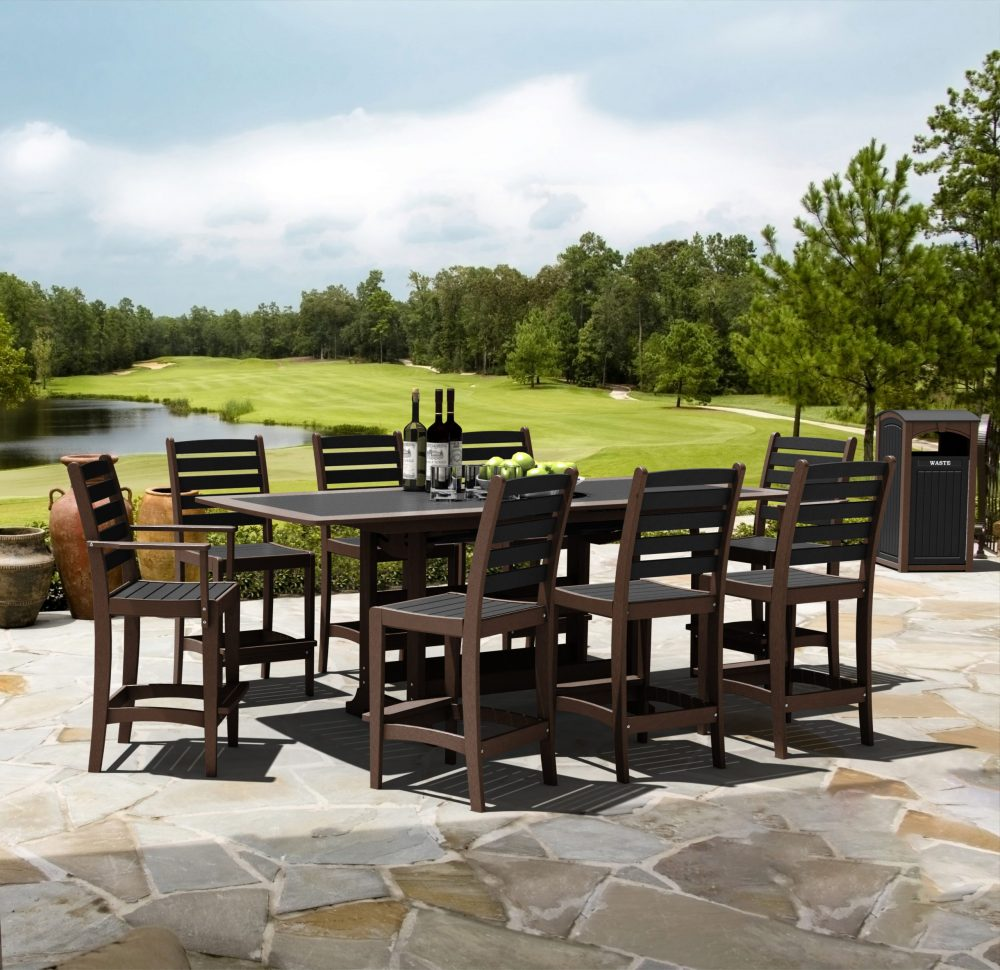 Napa Extension Bar Table with Maywood Side Bar Chairs