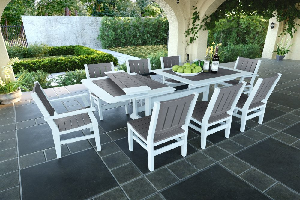 Napa Extension Table with Milano Dining & Side Chairs
