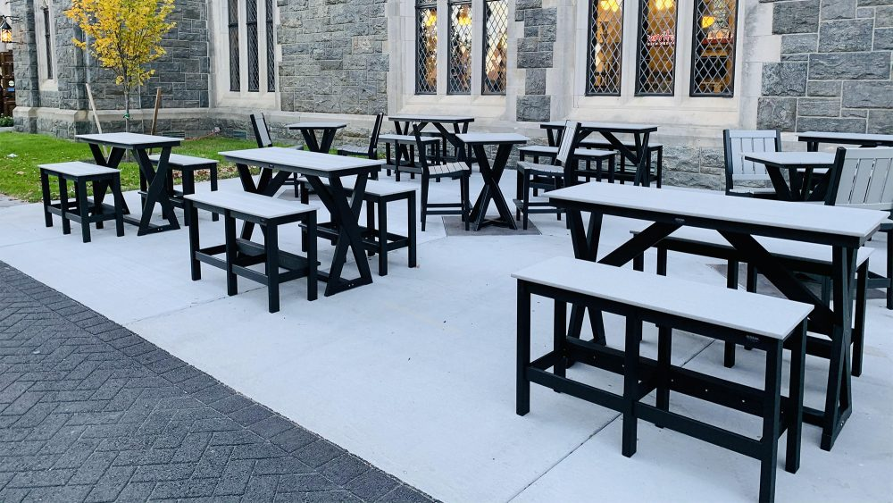 Hudson Cocktail Tables with Bar Benches