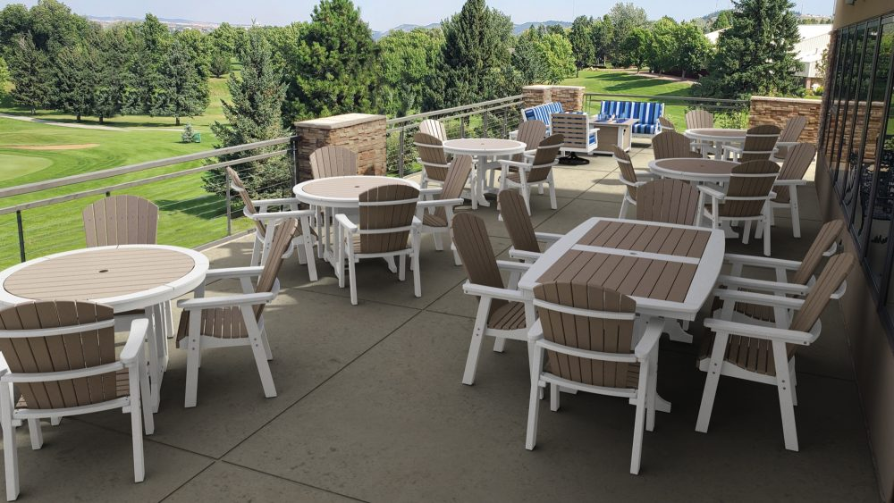 Napa and Laguna Dining Tables with Hyannis Dinign Chairs